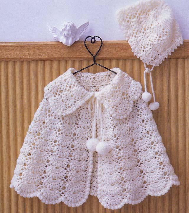 Knitting Pattern For A Little Girl s Cape : Beyaz bebek orgu modelleri eToplum.com